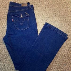 Levi 515 bootcut jeans with button pocket, 14